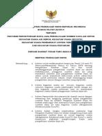 PERATURAN MENTERI PEKERJAAN UMUM NOMOR 08/PRT/M/2014
