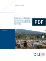 ICTJ Informe Colombia Reparacion Reclutamiento Ilegal 2014