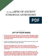 Condnesed, Glimpse of Ancient Ethiopian Astronomy