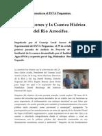 Inundaciones y Cuenca Hidrica Rio Arrecifes Jornada Cla Inta e Ina