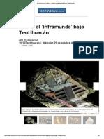 El 'Inframundo' Bajo Teotihuacán