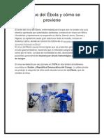 El Virus Del Ébola y Cómo Se Previene