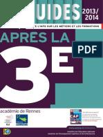 aprs la 3e rentre 2014 guide mis  jour en septembre 2014