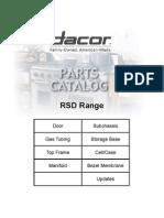 Dacor Model SGM464EM Parts Manual
