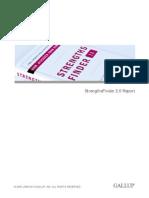 strengths finder report
