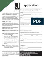 2010 CABJ High School Journalism Workshop Application
