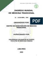 Libro de Resumenes Del v Congreso Mundial de Medicina Tradicional