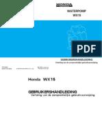 Handleiding en Instructieboekje Honda WX15 Waterpomp - Nederlands