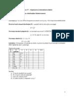 Statistica I_S4 - Organizarea Si Sistematizarea Datelor