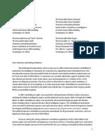 Letter Urging Whistleblower Protection
