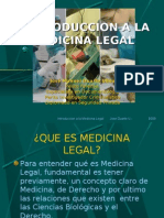 Introduccion a La Medicina Legal