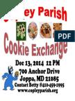 Copley Parish Cookie Exchange Flyer 2014