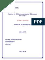 Faculté de Génie Mécanique Et Génie Des Procédés