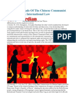 The Real Attitude of the Chinese Communist Party Towards International Law