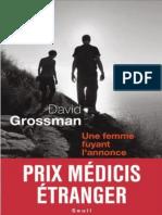 David Grossman - Une Femme Fuyant l'Annonce