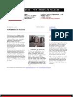 LG Williams 'Freedom Arrow' Press Release 2001
