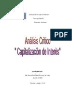 Analisis Critico de Capitalizacion
