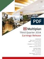 Earnings Release 3Q14