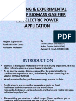 Modelling & Experimental Study of Biomass Gasifier For