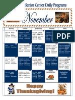 November Activity Calendar