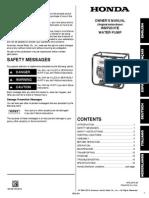 Handleiding en Instructieboekje Honda WMP20X Waterpomp - Nederlands