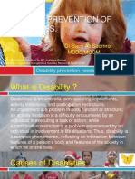 Causes & Prevention of Disabilities
