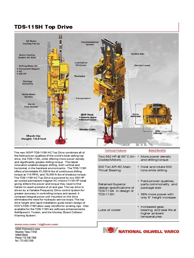 tds 11sh top drive d392004689 mkt 001 rev 01 horsepower rh scribd com Varco TDS -4 TDS -11SA Manual