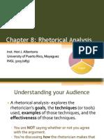 chapter 8 rhetorical analysis