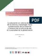 E02 La Educación en Valores Dentro de Ciencia y Tecnologia, Hacia La Disminución de La Violencia y