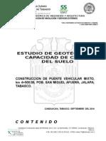 Reporte Tecnico, Construcción de Puente Vehicular.