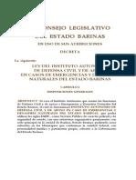 Ley Del Instituto Autonomo de Defensa Civil 2005 Def