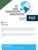 2013 GE Global Innovation Barometer Results Summary 33