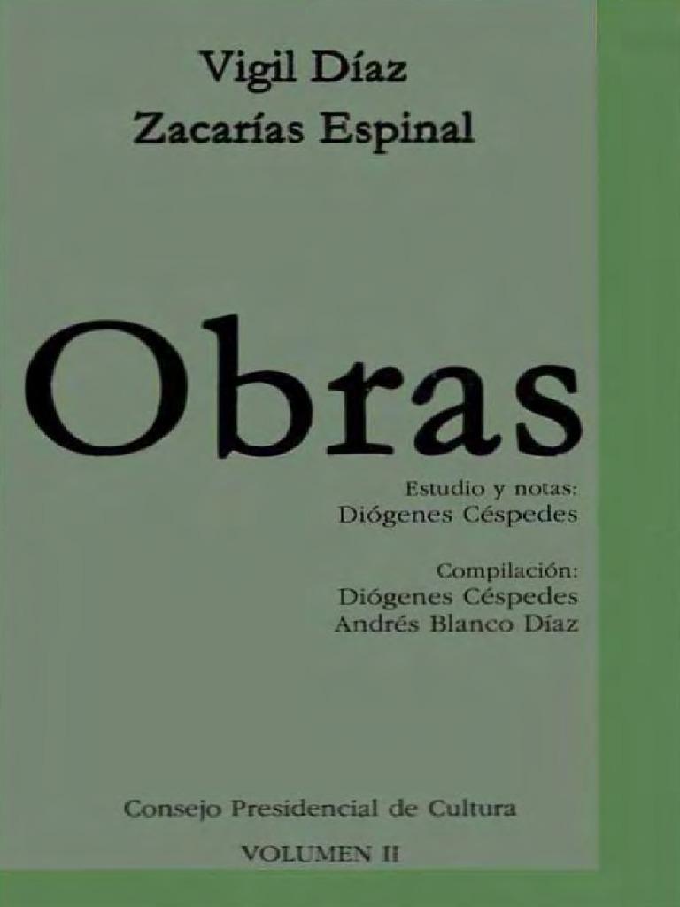 Vigil Diaz Et Al - Obras (Compilacion y Notas de Diogenes Cespedes) e675705062