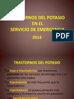 Trastornos del potasio en el servicio de emergencia