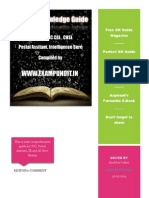 Ultimate General Knowledge Free PDF Book for SSC CGL CHSL Postal Assistant IB 2014 Compiled by ExamPundit