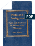 Balaban, Oded_Plato and Protagoras — Truth and Relativism in Ancient Greek Philosophy
