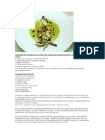 Calamar Con Crema de Cebolla Caramelizada y Vinagreta de Su Tinta