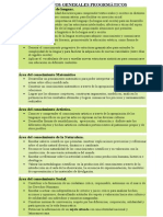 Objetivos Generales Progrmàticos 18