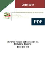 Informe Evaluación Del Desempeño 2010 2011