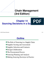 Sourcing decisions in Supply Chain