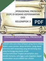 Standar Operasional Prosedur Perawat Gigi