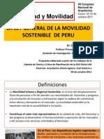 Propuesta de la Ley General de Movilidad Sostenible