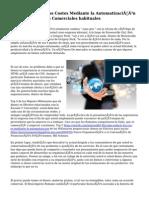 Cómo reducir los Costes Mediante la Automatización de las Prácticas Comerciales habituales