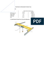 Perhitungan Overhead Crane