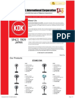 KDK Electrical Appliances - Kipcol International Corporation