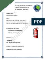 Seguridad Integral (Uso de Extintores Practica)