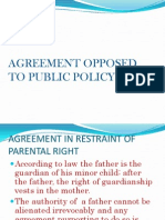 Agreement in Restrain of Parental Rights