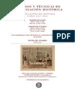 Programa Métodos y Técnicas de Investigación Histórica 200…