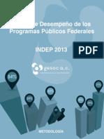 Índice de Desempeño de Programas, Gesoc 2013