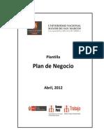 Plantilla plan de Negocios